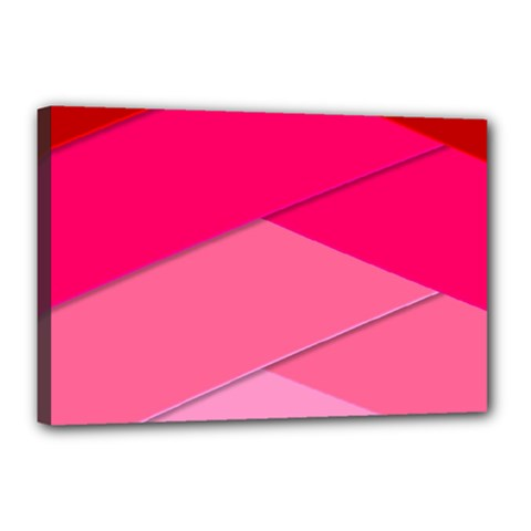 Geometric Shapes Magenta Pink Rose Canvas 18  X 12  by Celenk