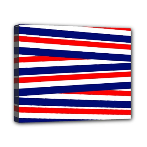 Red White Blue Patriotic Ribbons Canvas 10  X 8  by Celenk