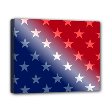 America Patriotic Red White Blue Canvas 10  X 8  by Celenk
