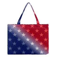 America Patriotic Red White Blue Medium Tote Bag by Celenk