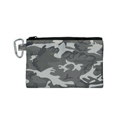Camouflage Pattern Disguise Army Canvas Cosmetic Bag (small) by Celenk