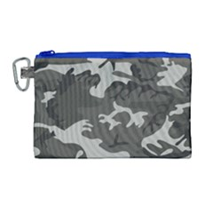 Camouflage Pattern Disguise Army Canvas Cosmetic Bag (large) by Celenk