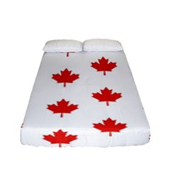 Maple Leaf Canada Emblem Country Fitted Sheet (full/ Double Size) by Celenk