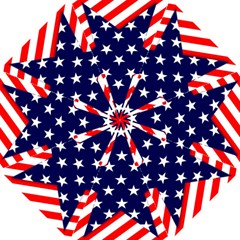 Patriotic Usa Stars Stripes Red Folding Umbrellas