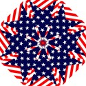Patriotic Usa Stars Stripes Red Folding Umbrellas View1