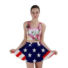 Patriotic Usa Stars Stripes Red Mini Skirt