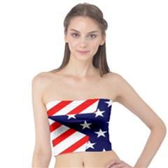 Patriotic Usa Stars Stripes Red Tube Top