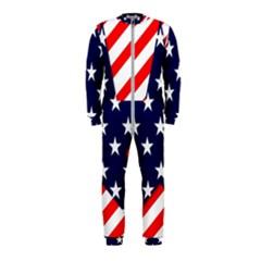 Patriotic Usa Stars Stripes Red OnePiece Jumpsuit (Kids)