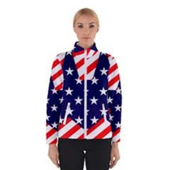 Patriotic Usa Stars Stripes Red Winterwear