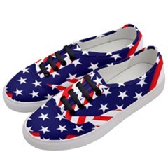Patriotic Usa Stars Stripes Red Women s Classic Low Top Sneakers by Celenk
