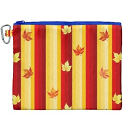 Autumn Fall Leaves Vertical Canvas Cosmetic Bag (xxxl) by Celenk
