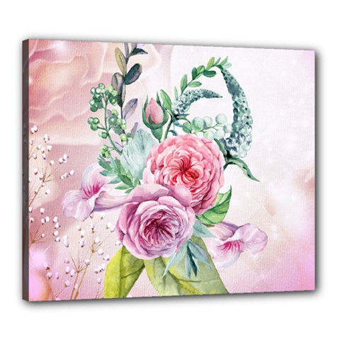 Flowers And Leaves In Soft Purple Colors Canvas 24  X 20  by FantasyWorld7