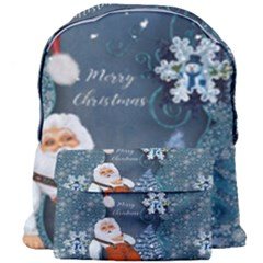 Funny Santa Claus With Snowman Giant Full Print Backpack