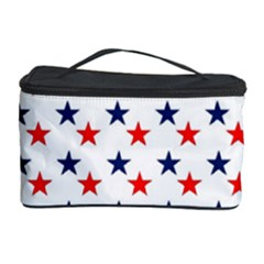 Patriotic Red White Blue Stars Usa Cosmetic Storage Case by Celenk