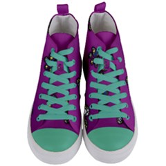 Footprints Paw Animal Track Foot Women s Mid Top Canvas Sneakers
