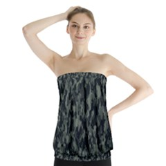 Camouflage Tarn Military Texture Strapless Top by Celenk