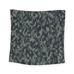 Camouflage Tarn Military Texture Square Tapestry (small) by Celenk
