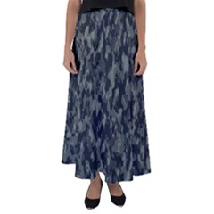Camouflage Tarn Military Texture Flared Maxi Skirt by Celenk