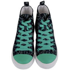 Camouflage Tarn Military Texture Women s Mid Top Canvas Sneakers