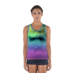 Yellowstone Wolfs Sunset Sport Tank Top