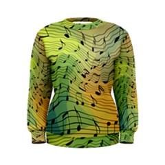 Music Notes Women s Sweatshirt by linceazul