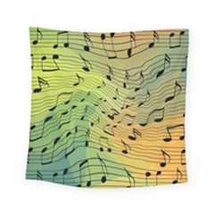Music Notes Square Tapestry (small) by linceazul