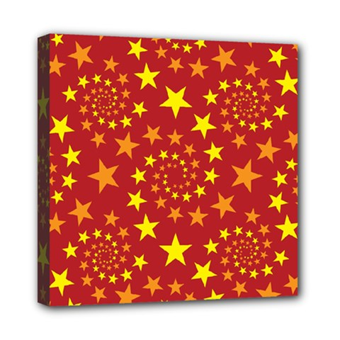 Star Stars Pattern Design Mini Canvas 8  X 8  by Celenk