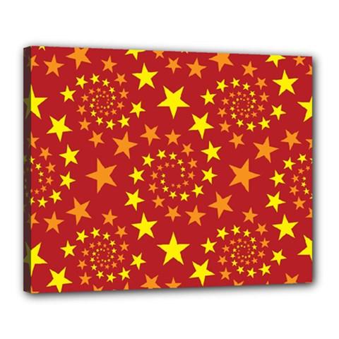 Star Stars Pattern Design Canvas 20  X 16  by Celenk