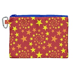 Star Stars Pattern Design Canvas Cosmetic Bag (xl) by Celenk