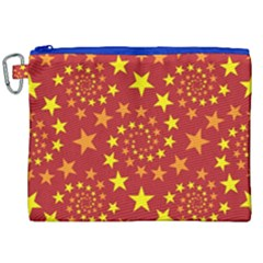 Star Stars Pattern Design Canvas Cosmetic Bag (xxl) by Celenk