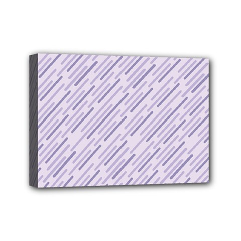 Halloween Lilac Paper Pattern Mini Canvas 7  X 5  by Celenk