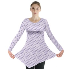 Halloween Lilac Paper Pattern Long Sleeve Tunic  by Celenk