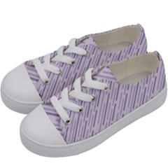 Halloween Lilac Paper Pattern Kids  Low Top Canvas Sneakers by Celenk