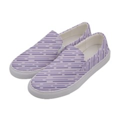 Halloween Lilac Paper Pattern Women s Canvas Slip Ons by Celenk