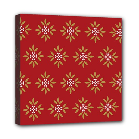 Pattern Background Holiday Mini Canvas 8  X 8  by Celenk