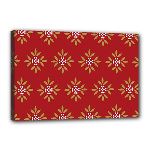 Pattern Background Holiday Canvas 18  X 12  by Celenk