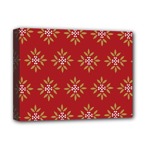 Pattern Background Holiday Deluxe Canvas 16  X 12   by Celenk