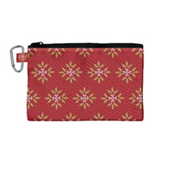 Pattern Background Holiday Canvas Cosmetic Bag (medium) by Celenk
