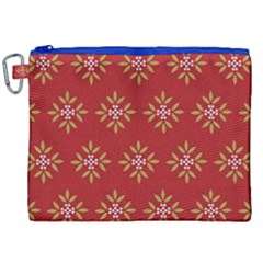 Pattern Background Holiday Canvas Cosmetic Bag (xxl) by Celenk
