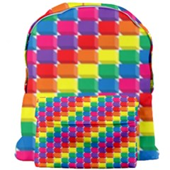 Rainbow 3d Cubes Red Orange Giant Full Print Backpack by Celenk