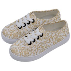 Yellow Peonies Kids  Classic Low Top Sneakers by 8fugoso