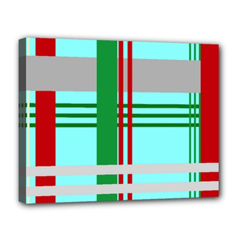 Christmas Plaid Backgrounds Plaid Canvas 14  X 11  by Celenk