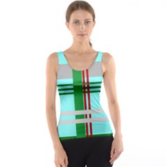 Christmas Plaid Backgrounds Plaid Tank Top by Celenk