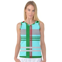 Christmas Plaid Backgrounds Plaid Women s Basketball Tank Top by Celenk