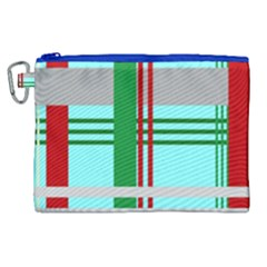 Christmas Plaid Backgrounds Plaid Canvas Cosmetic Bag (xl) by Celenk