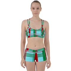 Christmas Plaid Backgrounds Plaid Women s Sports Set by Celenk