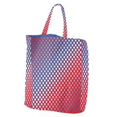 Dots Red White Blue Gradient Giant Grocery Zipper Tote by Celenk