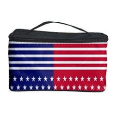 American Flag Patriot Red White Cosmetic Storage Case by Celenk