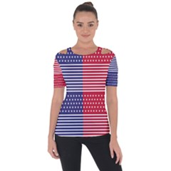 American Flag Patriot Red White Short Sleeve Top