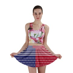 American Flag Patriot Red White Mini Skirt